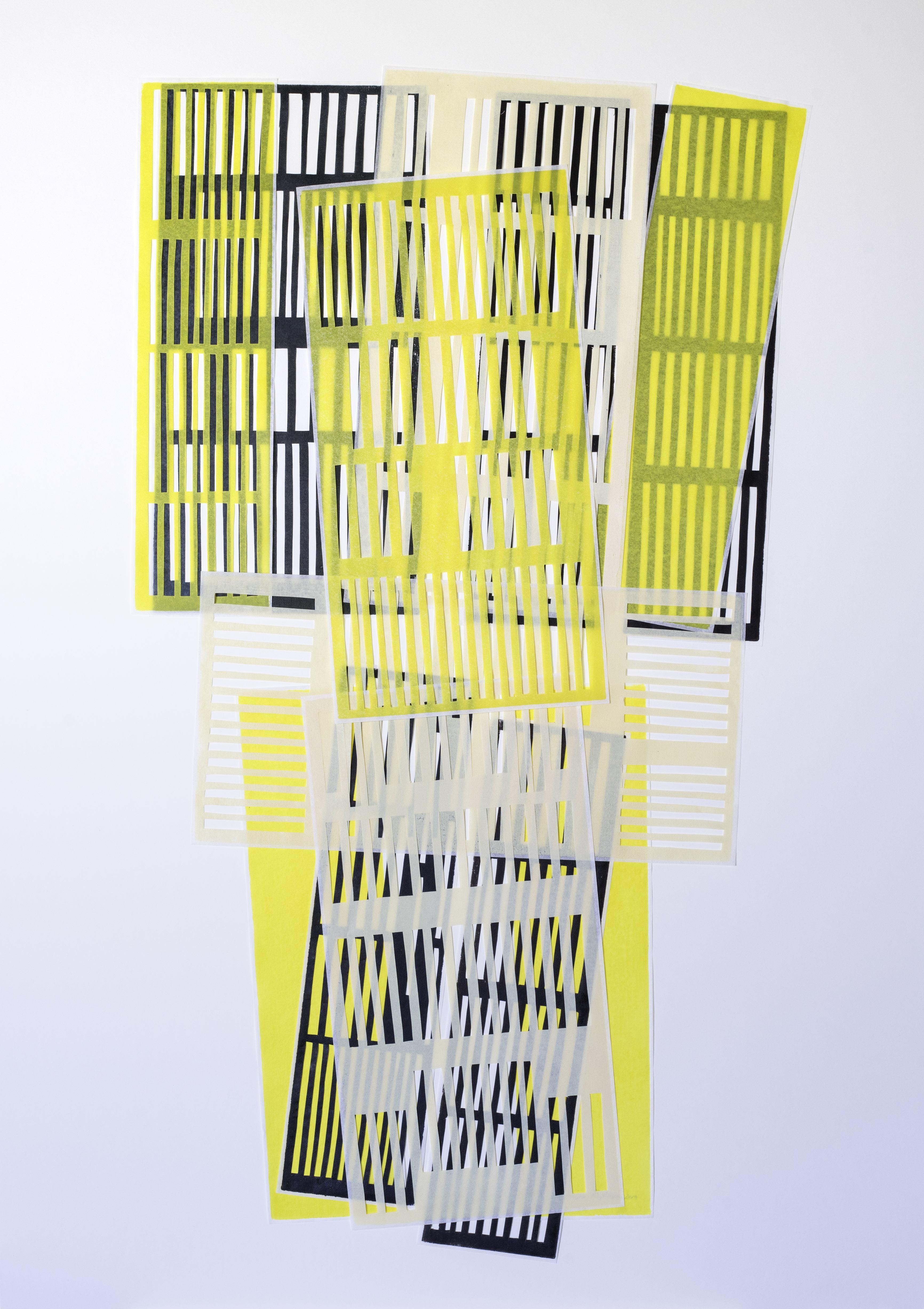Technik: Grafik, Hochdruck-Unikate, Skalpellzeichnung Material: Offsetfarbe, China Wenzhou-Papier, 2019 Maße/Bildgrund: 100 cm x 70 cm