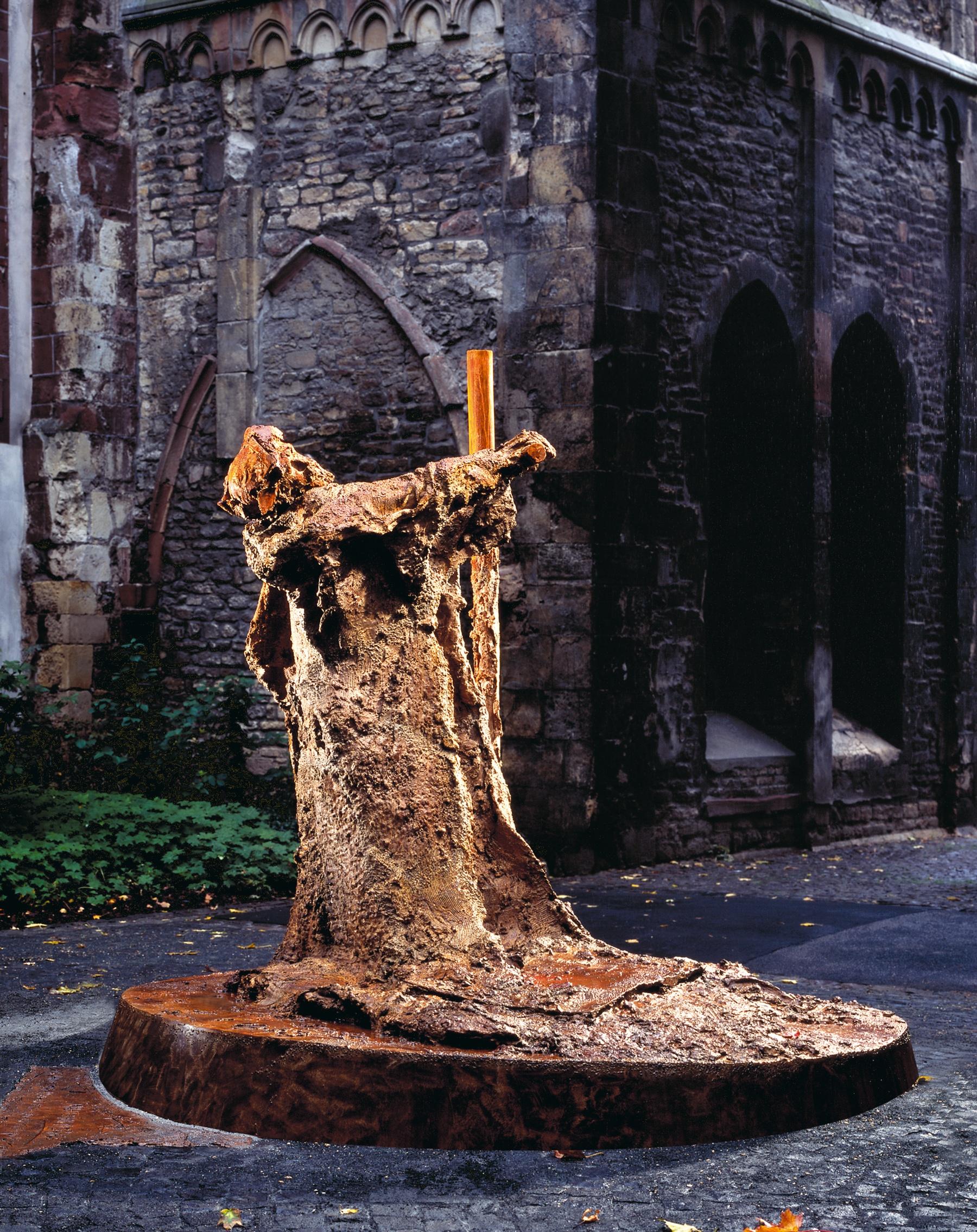 Gutenberg-Skulptur an der Christophskirche in Mainz